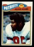 1977 Topps #139  Julius Adams  Front Thumbnail