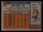 1976 Topps #169  Bob Berry  Back Thumbnail