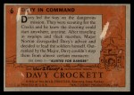 1956 Topps Davy Crockett #6 ORG  Davy In Command  Back Thumbnail