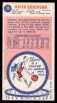 1969 Topps #29  Keith Erickson  Back Thumbnail