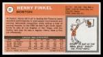 1970 Topps #27  Henry Finkel   Back Thumbnail