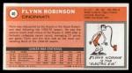 1970 Topps #40  Flynn Robinson   Back Thumbnail