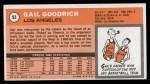 1970 Topps #93  Gail Goodrich   Back Thumbnail