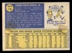 1970 Topps #110  Bob Moose  Back Thumbnail