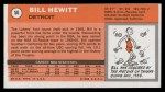 1970 Topps #56  Bill Hewitt   Back Thumbnail