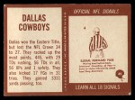 1967 Philadelphia #49   Dallas Cowboys Team Back Thumbnail