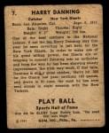 1941 Play Ball #7  Harry Danning  Back Thumbnail