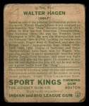 1933 Goudey Sport Kings #8  Walter Hagen   Back Thumbnail
