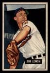 1951 Bowman #53  Bob Lemon  Front Thumbnail