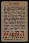 1951 Bowman #29  Allie Clark  Back Thumbnail