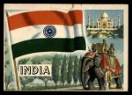 1956 Topps Flags of the World #34   India Front Thumbnail