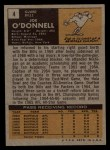 1971 Topps #4  Joe O'Donnell  Back Thumbnail