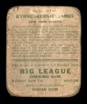 1933 Goudey #208  Bernie James  Back Thumbnail