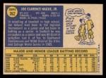 1970 Topps #362  Joe Hague  Back Thumbnail