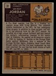 1971 Topps #31  Lee Roy Jordan  Back Thumbnail