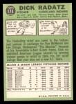 1967 Topps #174  Dick Radatz  Back Thumbnail