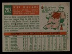 1959 Topps #292  Dick Williams  Back Thumbnail