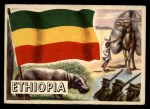 1956 Topps Flags of the World #48   Ethiopia Front Thumbnail