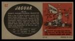 1961 Topps Sports Cars #62   Jaguar XK-SS Back Thumbnail