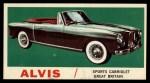 1961 Topps Sports Cars #51   Alvis Front Thumbnail