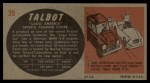 1961 Topps Sports Cars #39   Talbot Lago America Back Thumbnail