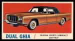 1961 Topps Sports Cars #42   Dual Ghia Front Thumbnail