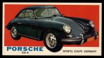 1961 Topps Sports Cars #23   Porsche 356 B Front Thumbnail