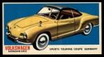 1961 Topps Sports Cars #43   Volkswagen Karmann-Ghia Front Thumbnail