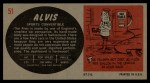 1961 Topps Sports Cars #51   Alvis Back Thumbnail