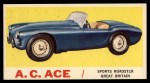 1961 Topps Sports Cars #8   A.C. Ace Front Thumbnail