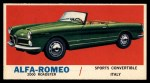 1961 Topps Sports Cars #10   Alfa-Romeo 2000 Roadster Front Thumbnail