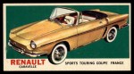 1961 Topps Sports Cars #27   Renault Caravelle Front Thumbnail