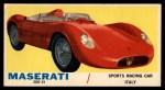 1961 Topps Sports Cars #5   Maserati 200 SI Front Thumbnail