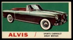1961 Topps Sports Cars #51   Alvis Front Thumbnail