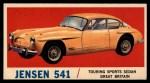 1961 Topps Sports Cars #64   Jensen 541 Front Thumbnail