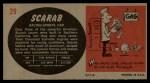 1961 Topps Sports Cars #29   Scarab Back Thumbnail