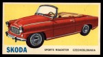 1961 Topps Sports Cars #33   Skoda Front Thumbnail
