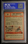 1962 Topps #39  Don Meredith  Back Thumbnail