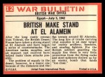 1965 Philadelphia War Bulletin #12   Desert Danger Back Thumbnail