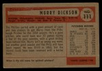 1954 Bowman #111  Murry Dickson  Back Thumbnail