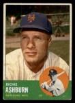 1963 Topps #135  Richie Ashburn  Front Thumbnail