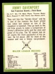 1963 Fleer #65  Jim Davenport  Back Thumbnail