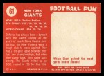 1958 Topps #61   Giants Team Back Thumbnail