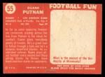 1958 Topps #55  Duane Putnam  Back Thumbnail