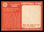 1958 Topps #85   Rams Team Back Thumbnail