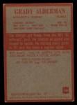 1965 Philadelphia #100  Grady Alderman   Back Thumbnail