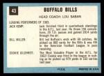 1964 Topps #43   Buffalo Bills Team Back Thumbnail
