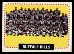 1964 Topps #43   Buffalo Bills Team Front Thumbnail