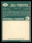 1960 Topps #58  Bill Forester  Back Thumbnail