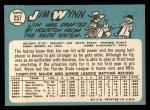 1965 Topps #257  Jim Wynn  Back Thumbnail